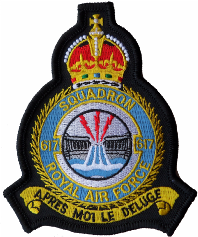 No. 617 Dambusters Squadron Royal Air Force RAF Crest MOD Embroidered Patch